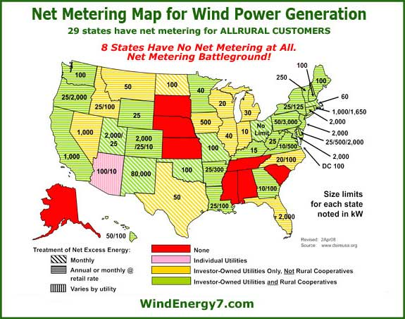 Net Metering Home Wind Turbine - Us wind energy map