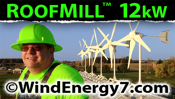 wind turbine generator home roof mount rooftop kit